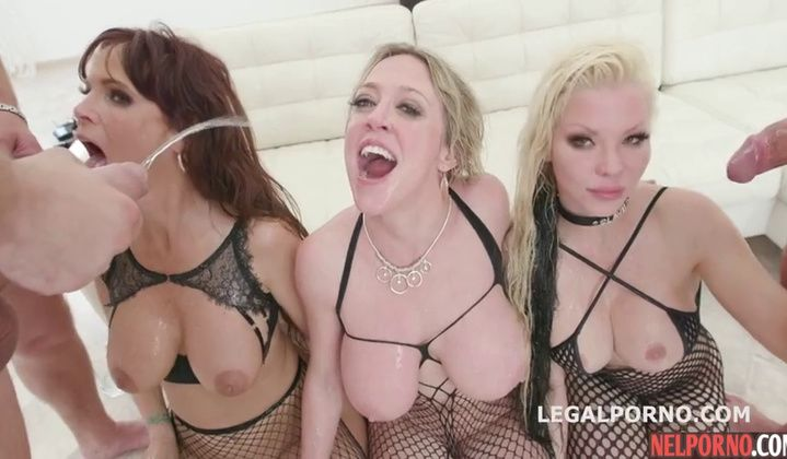 Milfs Big Tits Fishnet Gangbang Party Dap Dp Cum Facial Dgs